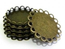Bronzefarbene Fassung für Cabochons, 25 mm