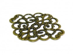 Supple diamond filigree - bronze-coloured