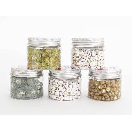 Acheter Pot perles lettres – Blanches - 5,99€ en ligne sur La Petite Epicerie - Loisirs créatifs