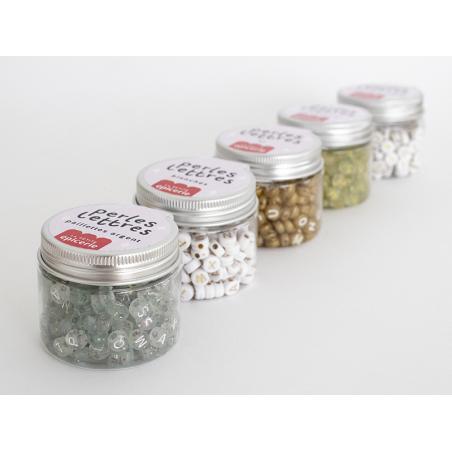 Acheter Pot perles lettres – Paillettes or - 5,99€ en ligne sur La Petite Epicerie - Loisirs créatifs