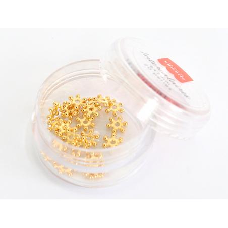 Acheter Lot de 20 perles heishi intercalaire - Fleur dorée 6x2mm - 3,99€ en ligne sur La Petite Epicerie - Loisirs créatifs