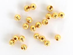 Acheter Lot de 20 perles heishi intercalaire - Boule dorée 4 x 3 mm - 3,99€ en ligne sur La Petite Epicerie - Loisirs créatifs