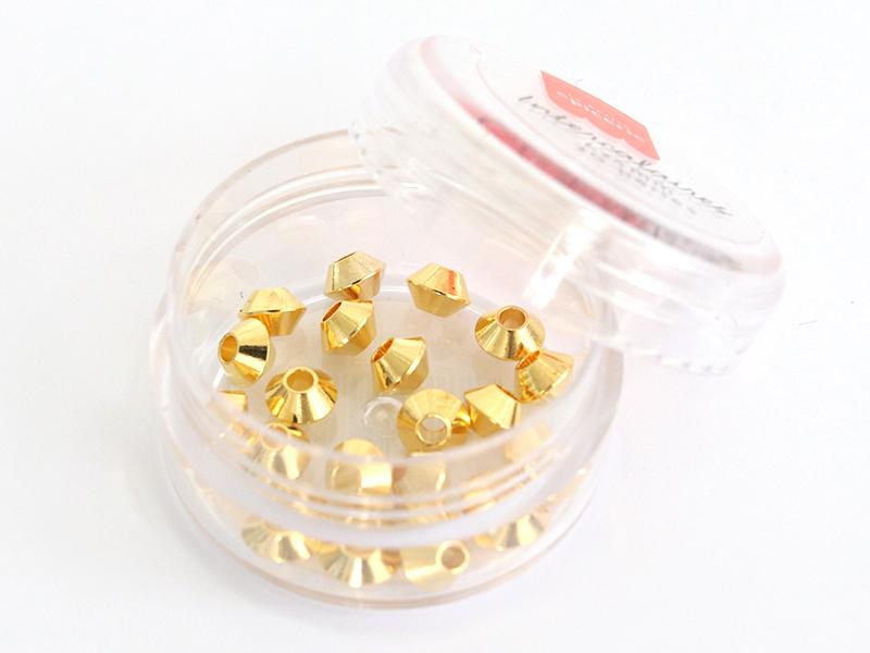 Acheter Lot de 20 perles heishi intercalaire - Toupie dorée 6x4mm - 3,99€ en ligne sur La Petite Epicerie - Loisirs créatifs