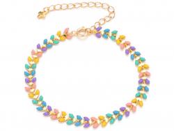 Acheter Bracelet chaine épi multicolores - 18,5 cm - 6,99€ en ligne sur La Petite Epicerie - Loisirs créatifs