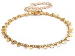 Acheter Bracelet à breloque - 19 cm - Acier inoxydable couleur or - 6,99€ en ligne sur La Petite Epicerie - Loisirs créatifs