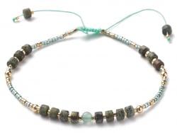 Acheter Bracelet fin - perles de jaspe et aventurine - taille ajustable - 6,99€ en ligne sur La Petite Epicerie - Loisirs cr...