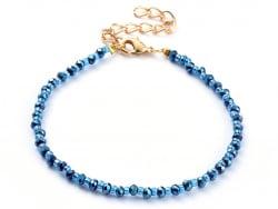 Acheter Bracelet à perles de verre - bleu irisé - 6,99€ en ligne sur La Petite Epicerie - Loisirs créatifs