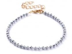 Acheter Bracelet à perles de verre - bleu irisé - 8,39€ en ligne sur La Petite Epicerie - Loisirs créatifs