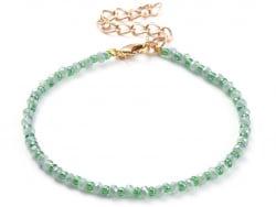 Acheter Bracelet à perles de verre - vert irisé - 6,99€ en ligne sur La Petite Epicerie - Loisirs créatifs