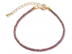 Acheter Bracelet en perles facétées - marron - 6,99€ en ligne sur La Petite Epicerie - Loisirs créatifs