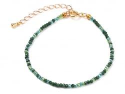 Acheter Bracelet en perles facétées - vert foncé - 6,99€ en ligne sur La Petite Epicerie - Loisirs créatifs