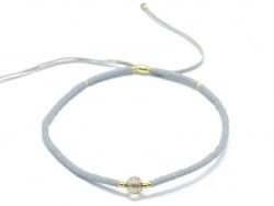 Acheter Bracelet en perles miyuki et quartz naturel - gris - ajustable - 6,99€ en ligne sur La Petite Epicerie - Loisirs cré...