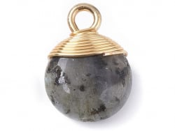 Acheter Pendentif en pierre naturelle - Labradorite - rond - 15 x 11 mm - 2,99€ en ligne sur La Petite Epicerie - Loisirs cr...