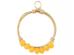 Acheter Pendentif rond avec perles à facettes - jaune - Doré à l'or fin 18K - 1,19€ en ligne sur La Petite Epicerie - Loisir...