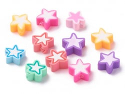 Acheter 20 perles en pâte polymère - étoiles - multicolore - 1,99€ en ligne sur La Petite Epicerie - Loisirs créatifs