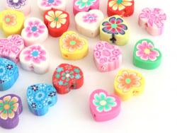 Acheter 20 perles en pâte polymère - cœurs effet millefiori - multicolore - 1,99€ en ligne sur La Petite Epicerie - Loisirs ...