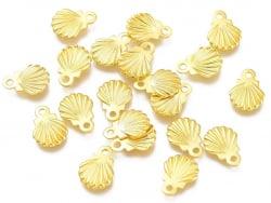Acheter 10 mini breloques / pendentifs mini coquillages - 7,5 mm - acier inoxydable doré - 1,99€ en ligne sur La Petite Epic...