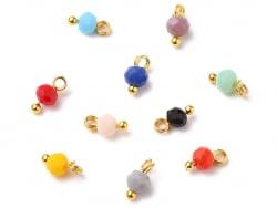 Acheter 10 pendentifs / breloques - perles multicolores à facettes - 4 mm - 0,99€ en ligne sur La Petite Epicerie - Loisirs ...