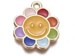 Acheter pendentif émaillé - paquerette souriante - multicolore - 0,79€ en ligne sur La Petite Epicerie - Loisirs créatifs