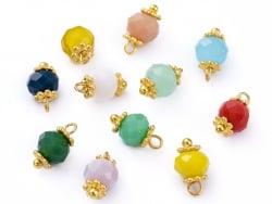 Acheter 10 pendentifs / intercalaires - perles multicolores à facettes - 6 mm - 1,19€ en ligne sur La Petite Epicerie - Lois...