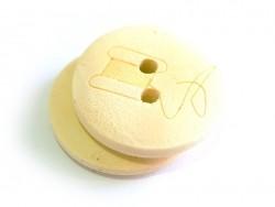 Bouton en bois 20mm - bobine de fil
