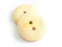 Wooden button (20 mm) - Bobbin