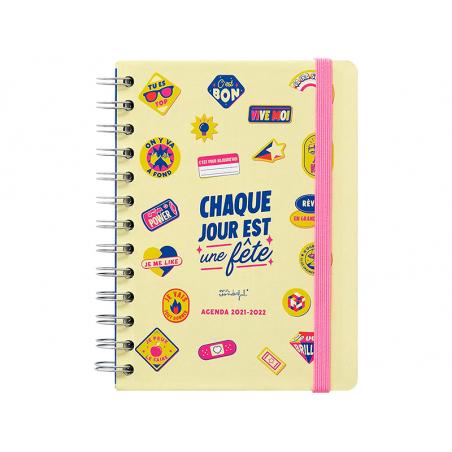 """Acheter Agenda petit format semainier """"Chaque jour est une fête"""" 2021 - 2022 - mr wonderful - 16,99€ en ligne sur La Petite ..."""