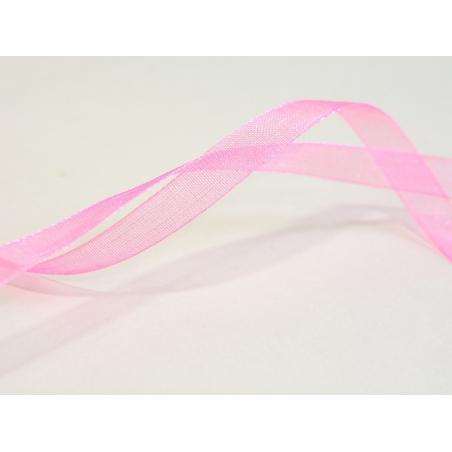 Acheter 1 m de ruban organza 6 mm - rose pale / fluo - 0,39€ en ligne sur La Petite Epicerie - 100% Loisirs créatifs