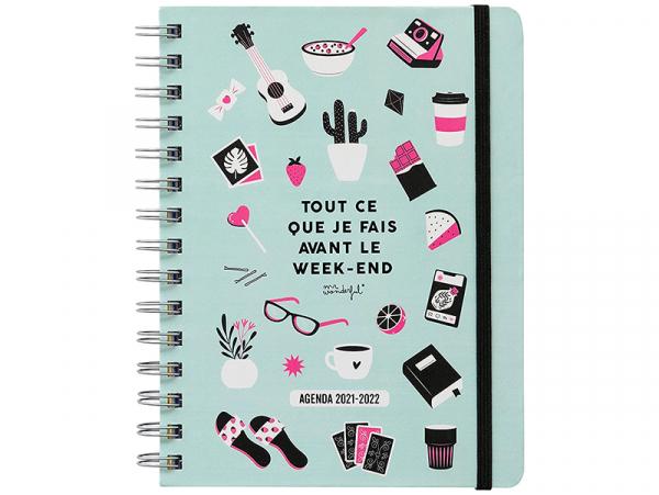 """Acheter Agenda sketch semainier 2021-2022 - """"Tout ce que je fais avant le week-end"""" Mr Wonderful - 17,99€ en ligne sur La Pe..."""