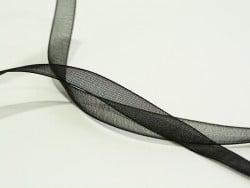 1 m de ruban organza 6 mm - noir