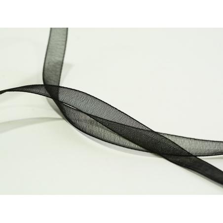 Acheter 1 m de ruban organza 6 mm - noir - 0,39€ en ligne sur La Petite Epicerie - Loisirs créatifs