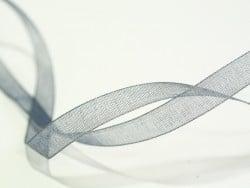 Acheter 1 m de ruban organza 6 mm - gris - 0,39€ en ligne sur La Petite Epicerie - 100% Loisirs créatifs