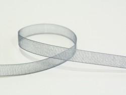 1 m de ruban organza 6 mm - gris