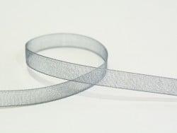 1 m Organzaband (6 mm) - grau