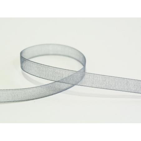 1 m of organza ribbon (6 mm) - Grey