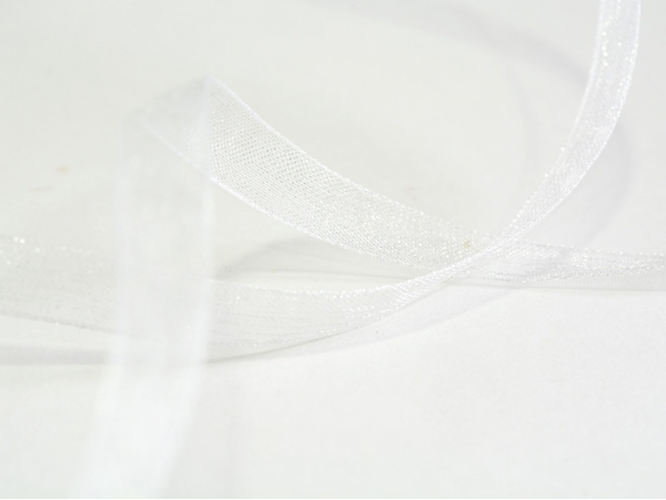 1 m of organza ribbon (6 mm) - White