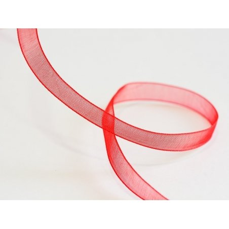 1 m of organza ribbon (6 mm) - Red  - 1