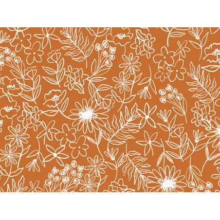 Acheter Tissu viscose – Fleurs des champs marron - Exclusivité La Petite Epicerie - 1,99€ en ligne sur La Petite Epicerie - ...