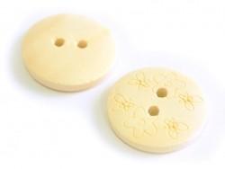 Bouton en bois 20mm - petites fleurs
