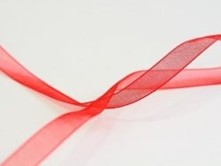 1 m de ruban organza 6 mm - rouge