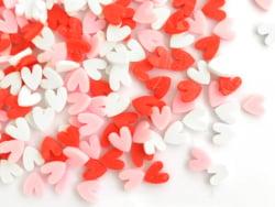 Acheter Confettis en pâte polymère - coeurs rouge rose et blanc - 10 grammes - 1,99€ en ligne sur La Petite Epicerie - Loisi...