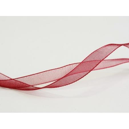 1 m of organza ribbon (6 mm) - Burgundy  - 1