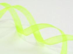 1 m de ruban organza 6 mm - vert / fluo  - 1