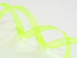 1 m of organza ribbon (6 mm) - (Neon) green