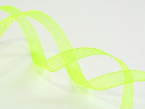 1 m of organza ribbon (6 mm) - (Neon) green