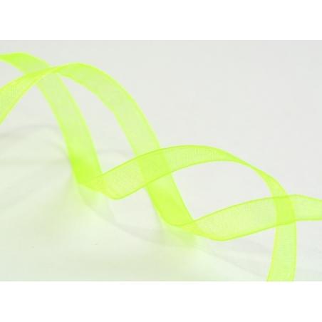 Acheter 1 m de ruban organza 6 mm - vert / fluo - 0,39€ en ligne sur La Petite Epicerie - Loisirs créatifs