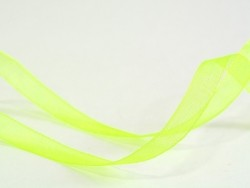 1 m de ruban organza 6 mm - vert / fluo