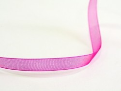 1 m of organza ribbon (6 mm) - fuchsia/pink  - 2