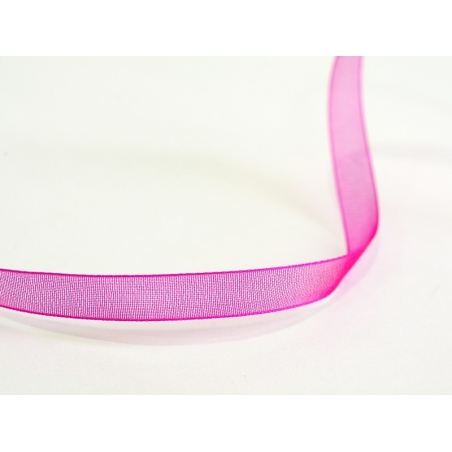 Acheter 1 m de ruban organza 6 mm - rose fushia - 0,39€ en ligne sur La Petite Epicerie - 100% Loisirs créatifs