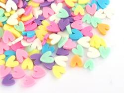 Acheter Confettis en pâte polymère - coeurs pastel - 10 grammes - 1,99€ en ligne sur La Petite Epicerie - Loisirs créatifs